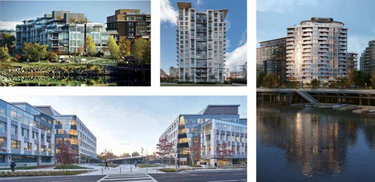 Multiple renderings of North Harbour waterfront developments by Concert
