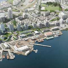 Rendering of Dockside Green 15-acre development aerial view