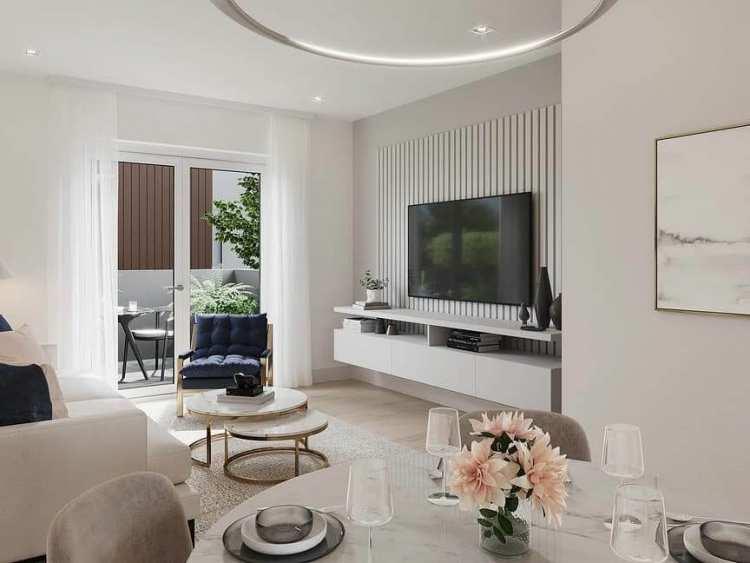 Rendering of Lakewood living room