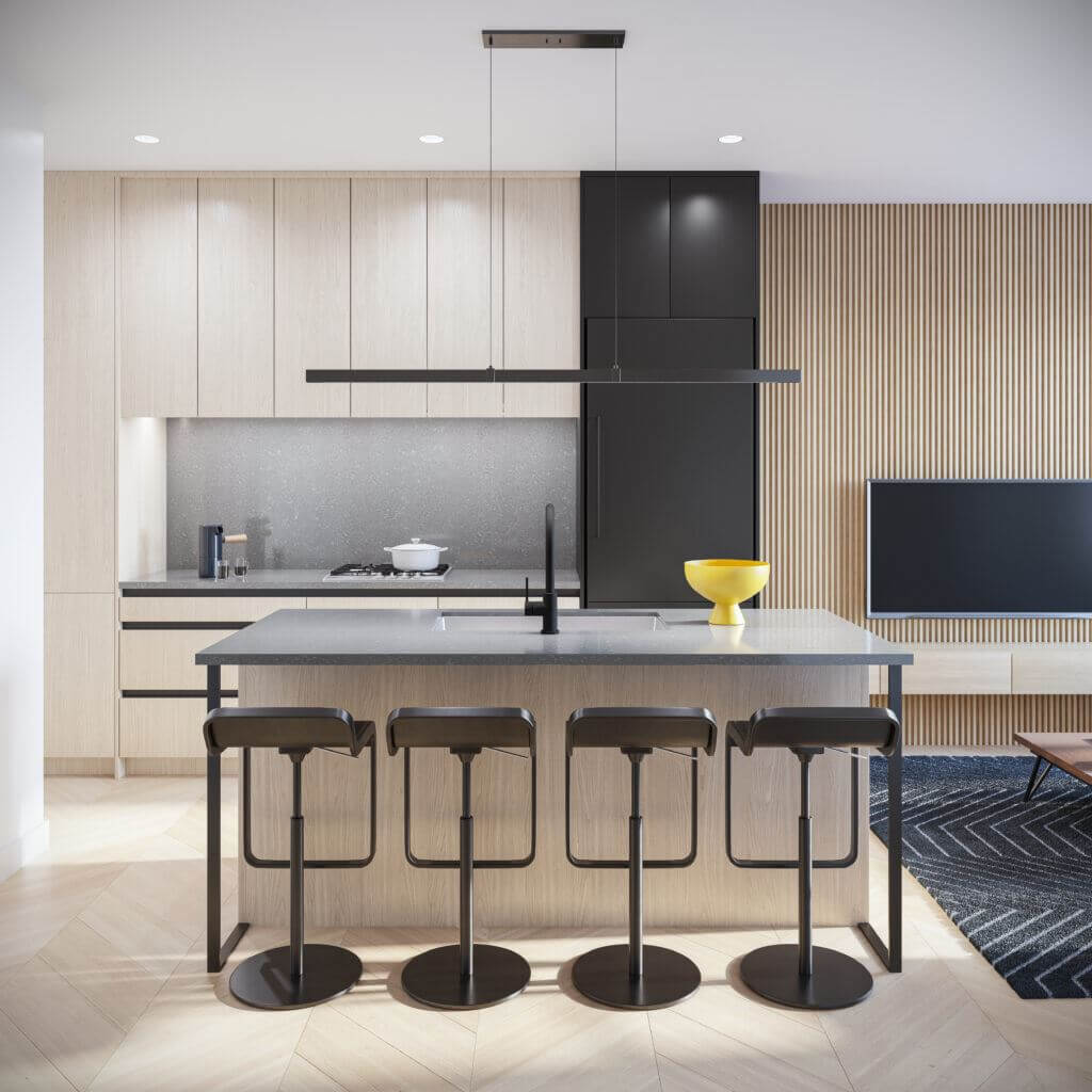 Rendering Of Oak+52 Kitchen