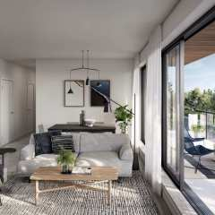 Rendering of Pure Living Room