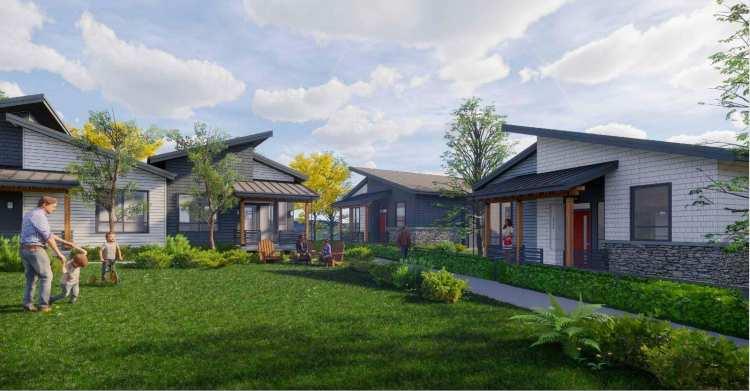 Rendering of Garibaldi Springs Cottages