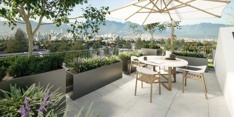 Rendering of La Menta Rooftop Patio