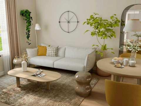 Rendering Of Nicomekl Garden Living Room