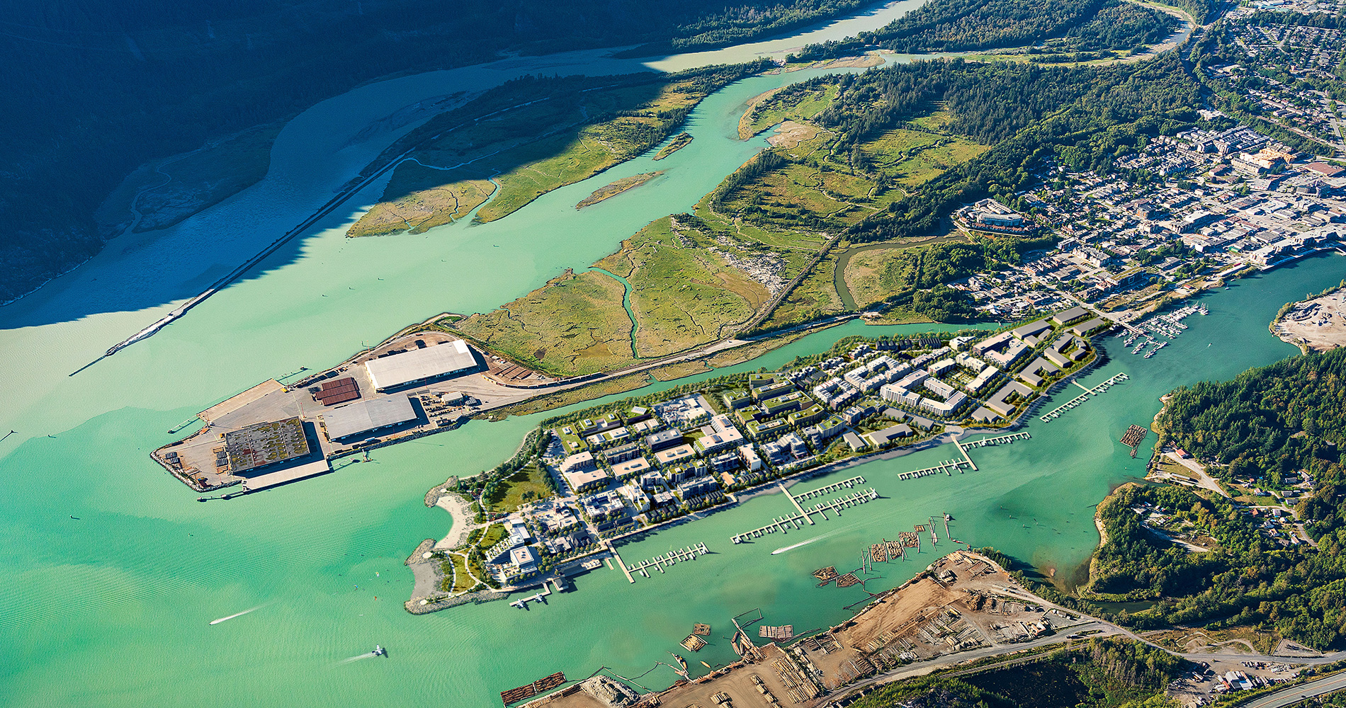 Rendering Of Oceanfront Squamish Aerial View