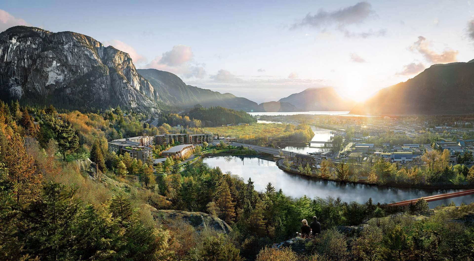 Rendering Of Redbridge Development And Squamish Views