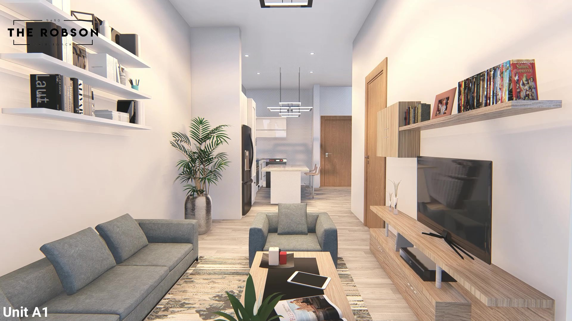Rendering Of The Robson Living Room In Chilliwack BC