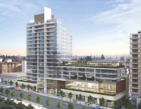 Rendering Of Millennium Central Lonsdale 18-storey Residential Tower