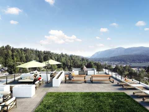 Rendering Of Anchor 6-storey Condo Development Rooftop Patio