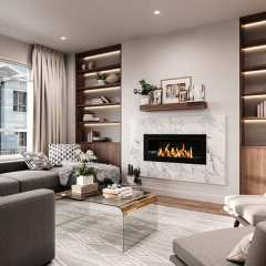 Rendering of Hazelwood Living Room in Surrey