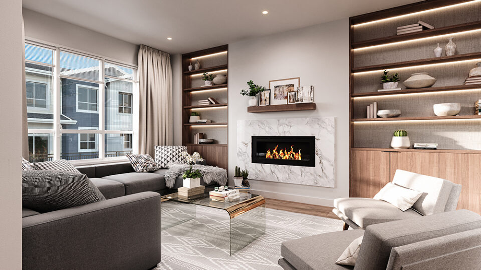Rendering Of Hazelwood Living Room In Surrey