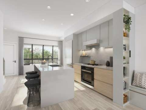 Rendering Of Lilibet Townhomes Kitchen