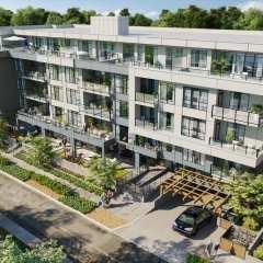 Rendering of Prosper condo development featuring northeast view