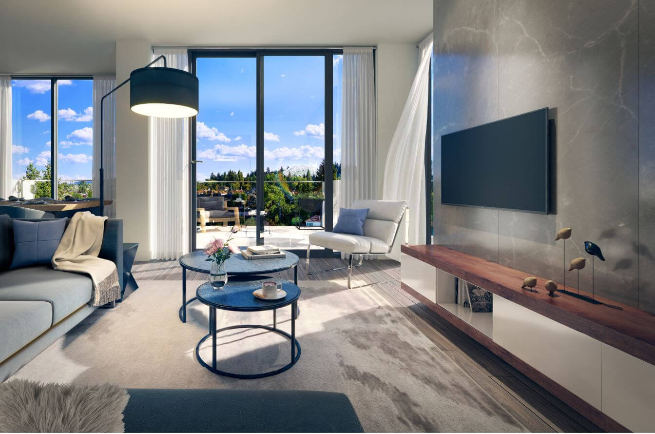 Rendering Of Savoy Living Room