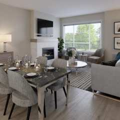 Rendering of South Grove Dining Living