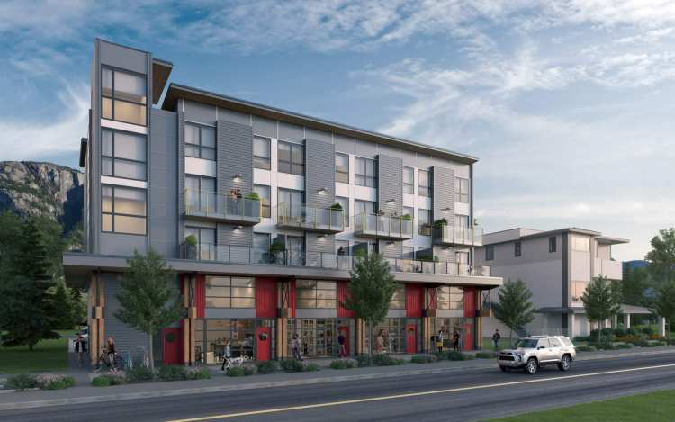 Rendering of The Lofts 4-storey development in Squamish