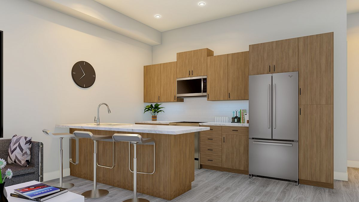 Rendering Of Abode Kitchen