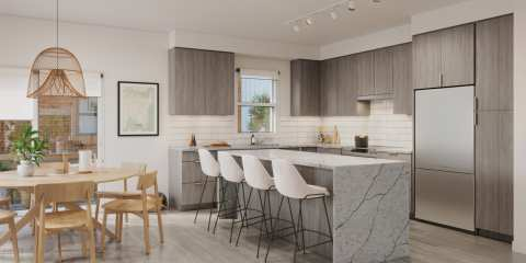 Rendering Of Sydney Townhomes Kitchen