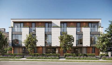 Rendering Of The Willow Townhomes