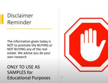 Disclaimer Reminder