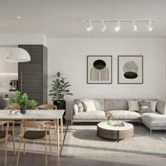Rendering of Parc Centrale Living Space