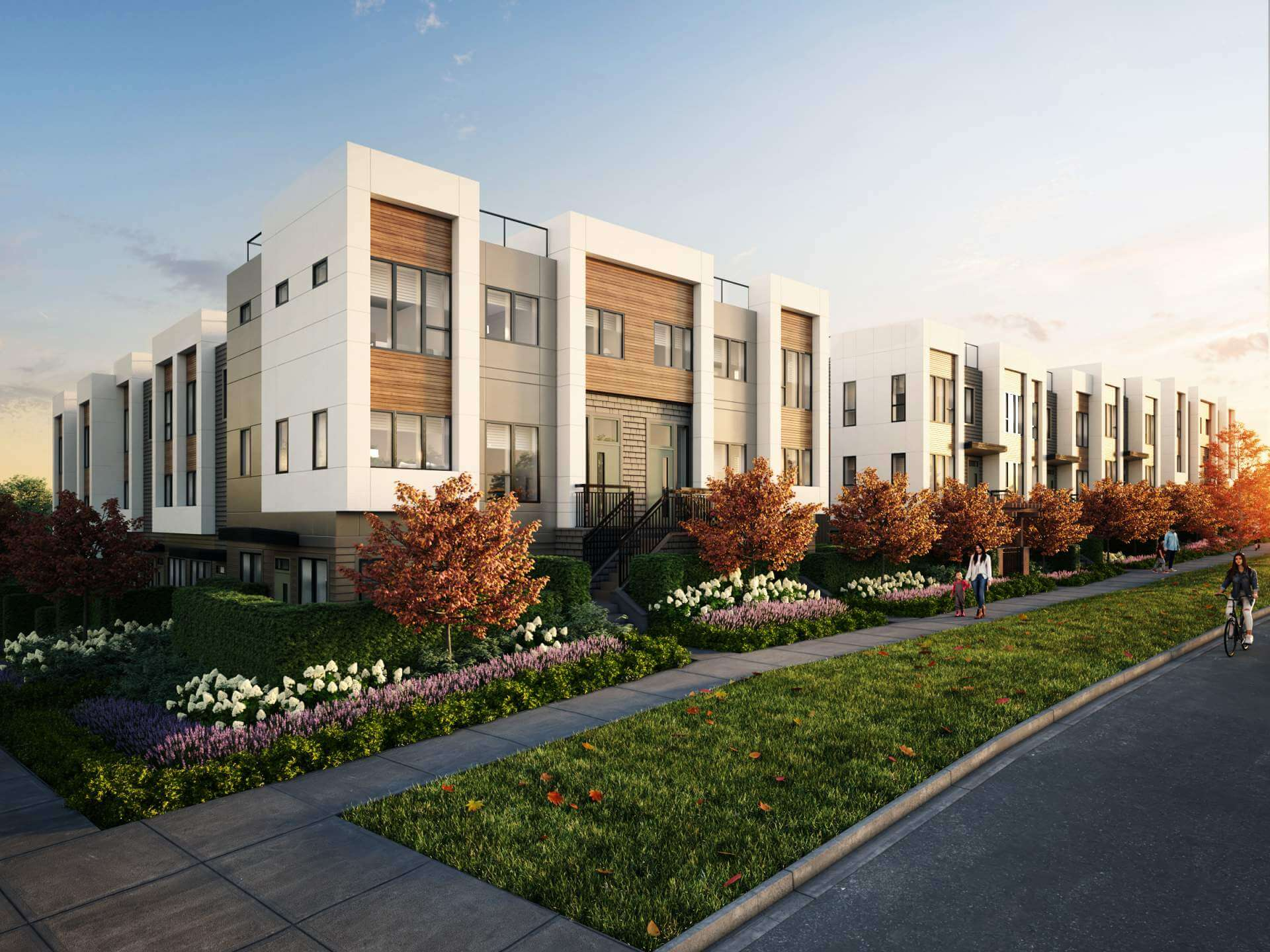 Rendering Of Avenue 33 Townhouses Front View