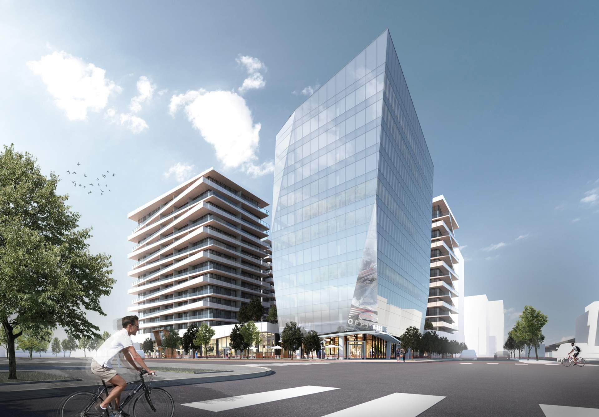Rendering Of Luxe Office Building
