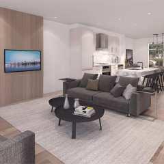 Rendering of The Oak Living Room
