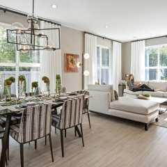 Rendering of Cardinal Dining/Living room