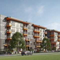 Rendering of Red Brick Condo Development